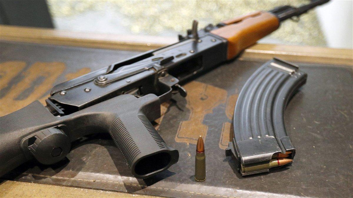 An AK-47 assault rifle.