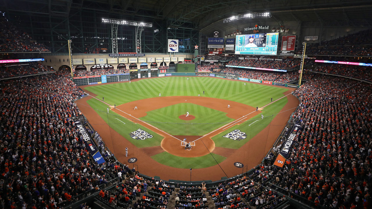 The Astros' Minute Maid Park in Houston.