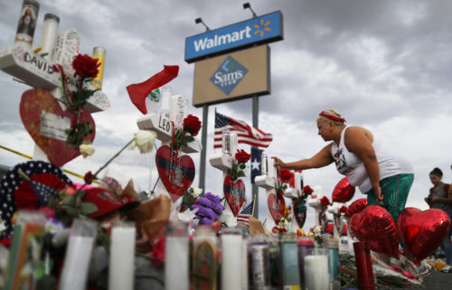 El Paso shooting memorial Walmart