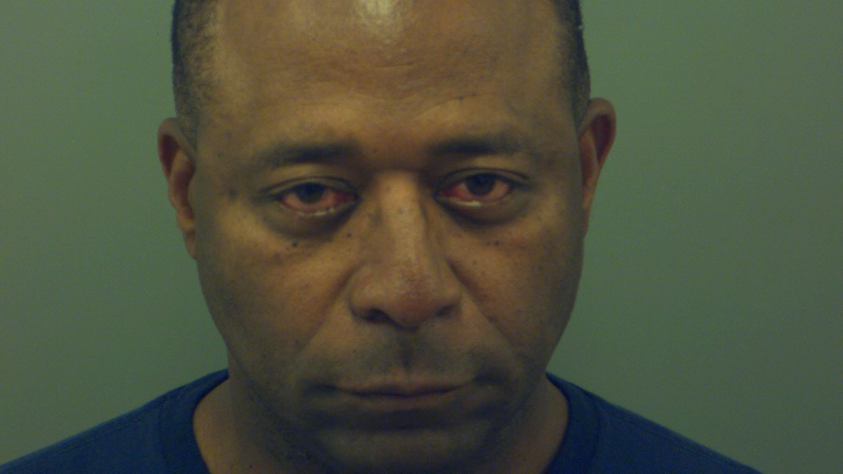 Sam Morgan's arrest mugshot.