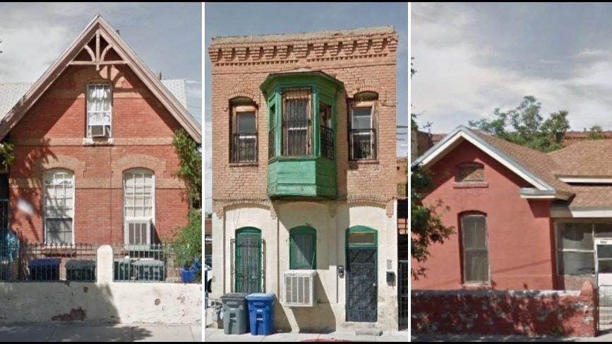 Vacant Duranguito neighborhood properties.