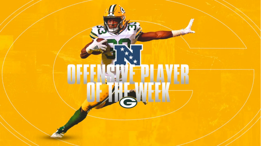 Former Utep Running Back Aaron Jones Wins Nfc Offensive Player Of The Week For 2nd Time This Season Kvia