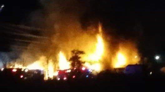 Montana fire flames