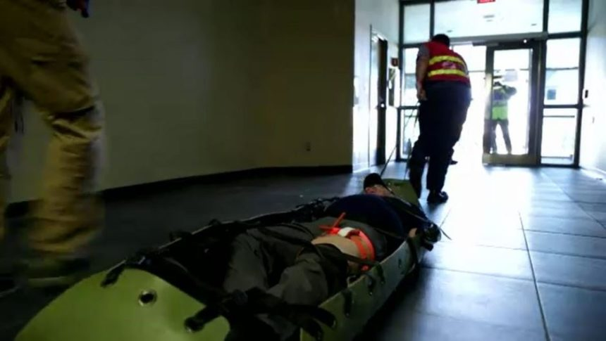 Law enforcement and first responders go through the Active Attack Integrated Response (AAIR) course.