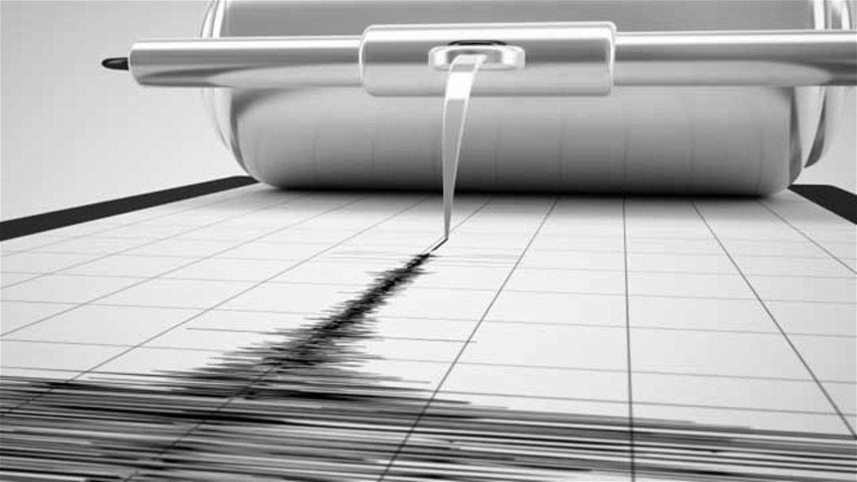 A seismograph records an earthquake.