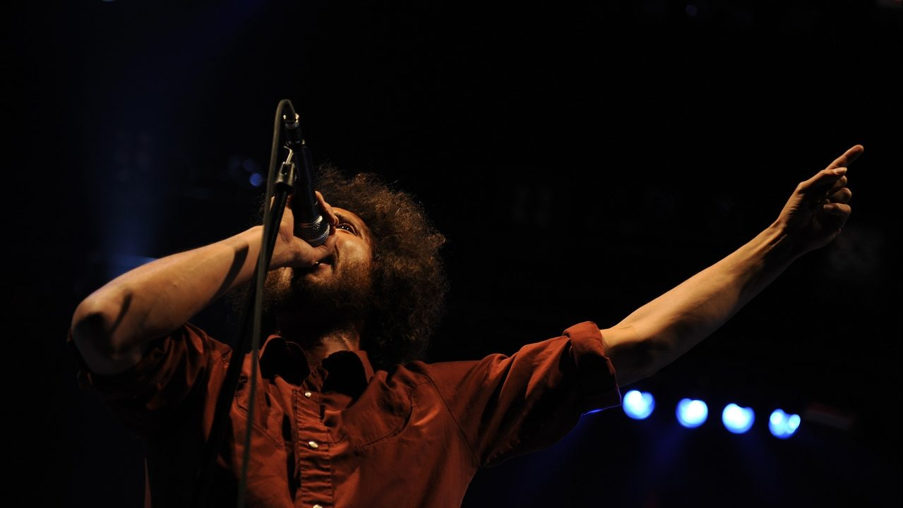 Zack de la Rocha of Rage Against The Machine performs in this file photo.