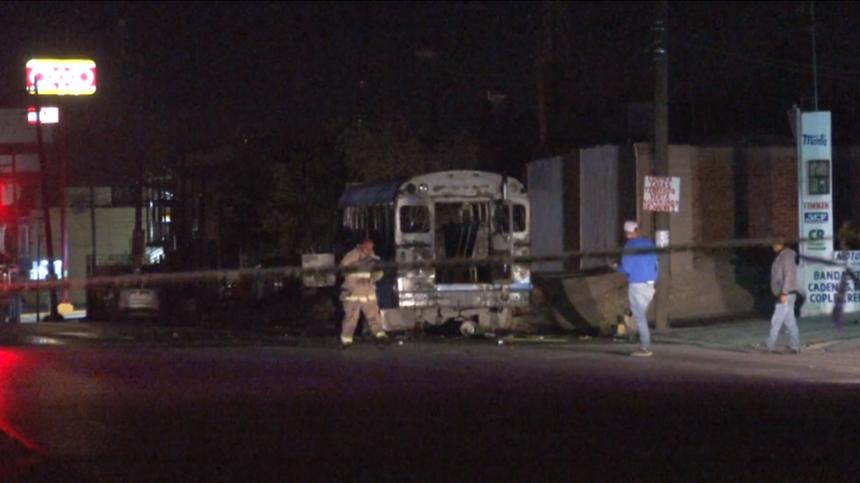 Juarez burned bus