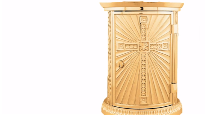 The tabernacle that was stolen from a Catholic Church in Horizon.