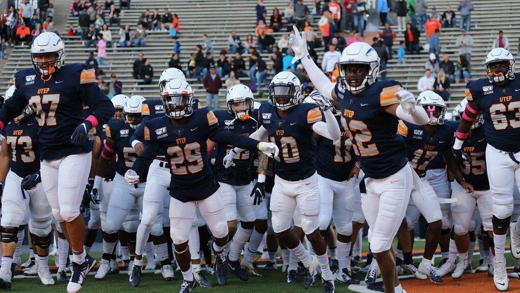The UTEP football team during a home game this past season against Louisiana Tech.