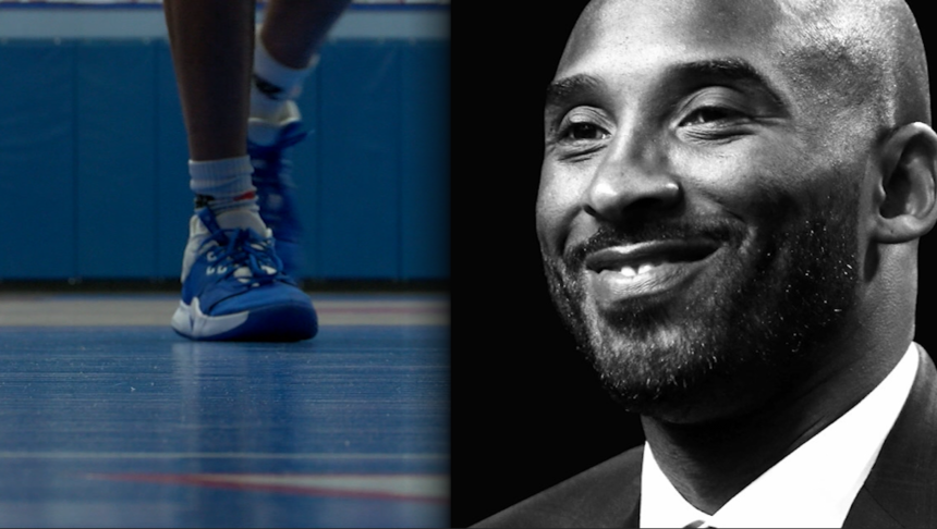 The Las Cruces High School basketball team (right) practiced with memories Monday of Kobe Bryant on their mind.