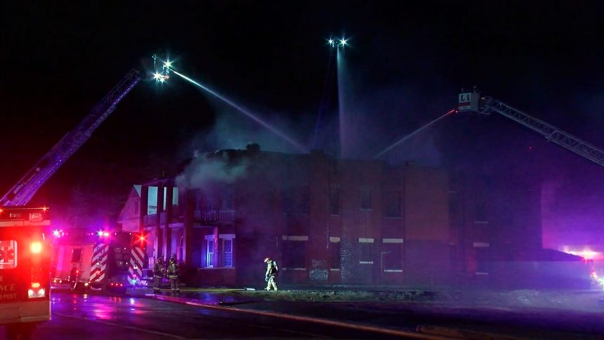 abandoned building fire