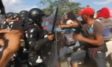 mexico military-migrants clash