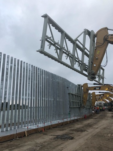 Border wall construction near the Rio Grande is shown in this file photo.