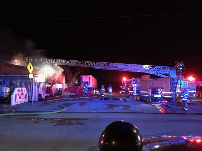 FIRE DESTROYS BUILDING IN HATCH