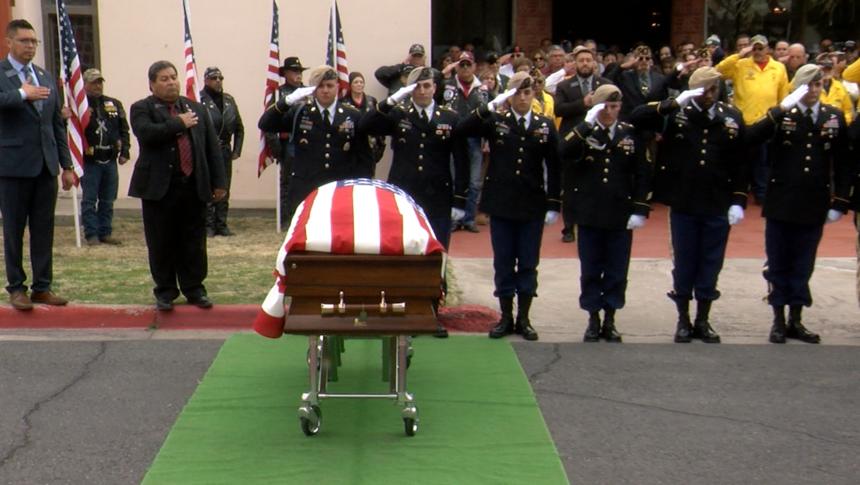 funeral mass for fallen soldier