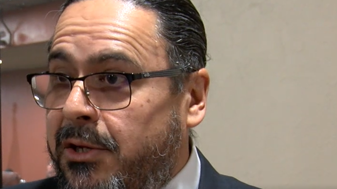Judge Francisco Dominguez declines to answer questions when approached by ABC-7.