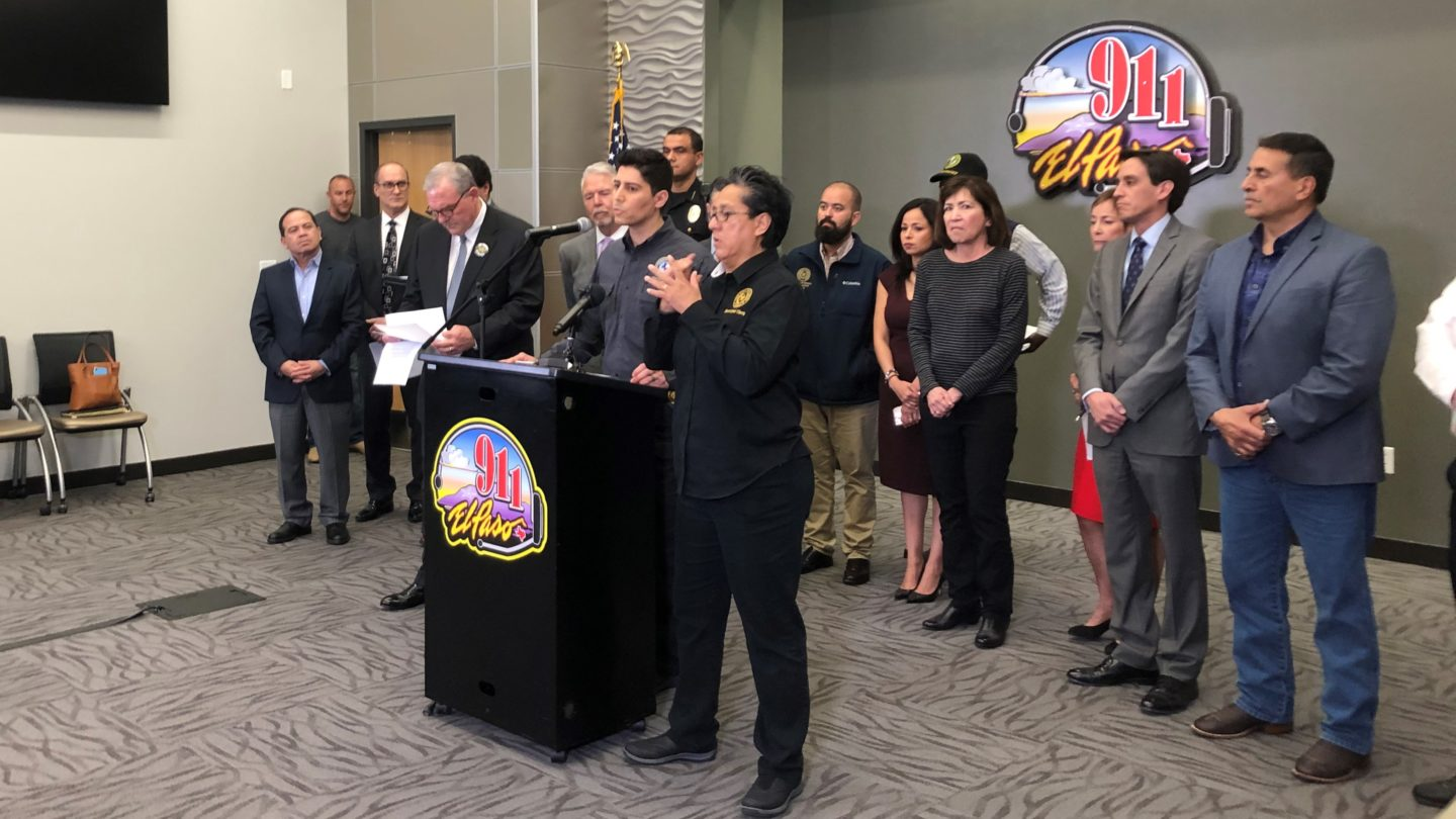 El Paso city officials hold a briefing on coronavirus.