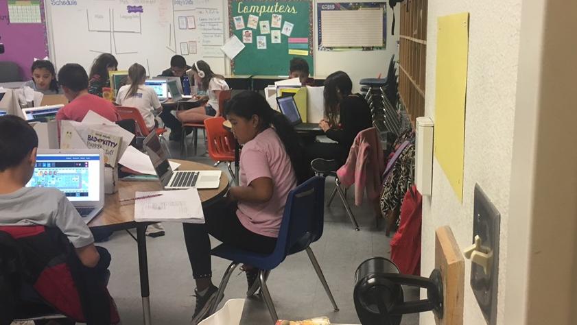 Students in a Las Cruces Public Schools classroom.