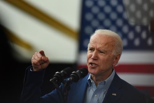 Joe Biden speaks at a campaign event.