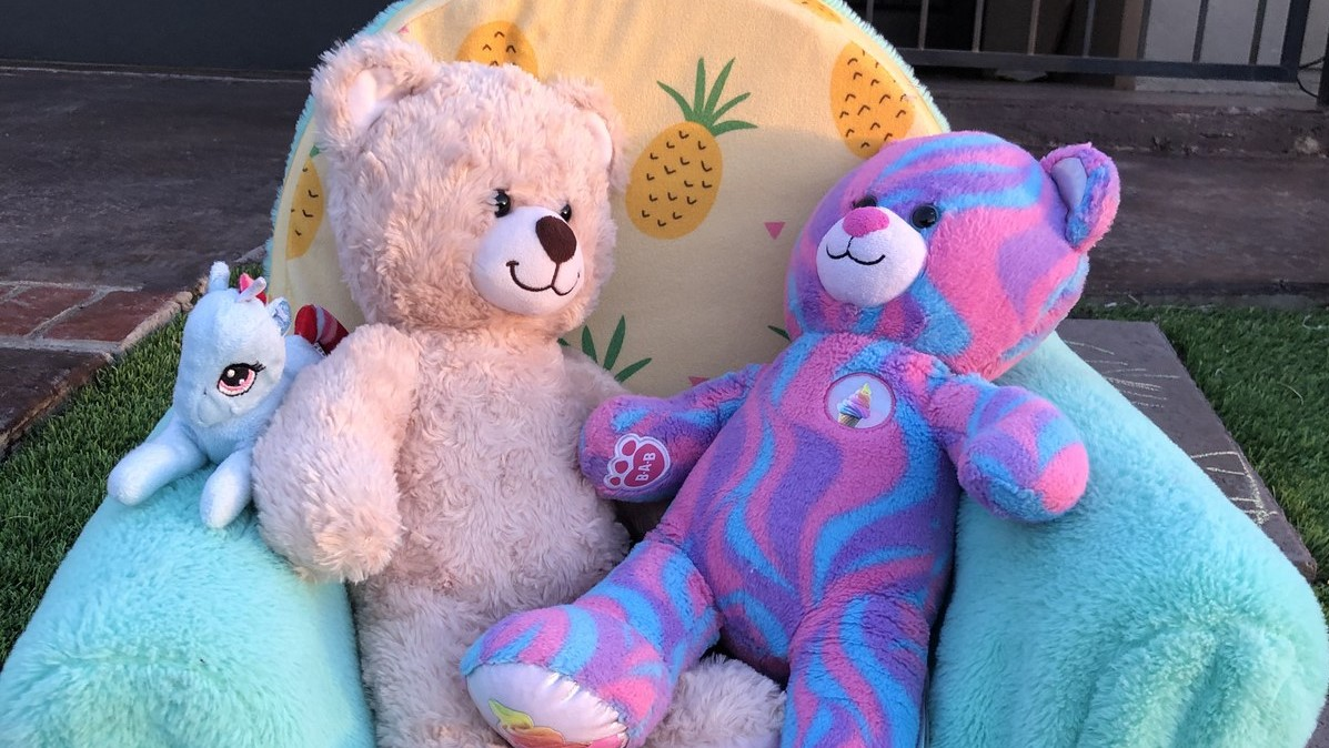 Teddy bears on display that will be part of a scavenger hunt soon in an east El Paso neighborhood.