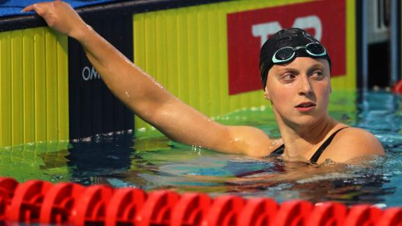U.S. swim star Katie Ledecky.
