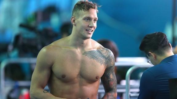 Olympic swimmer Caeleb Dressel.