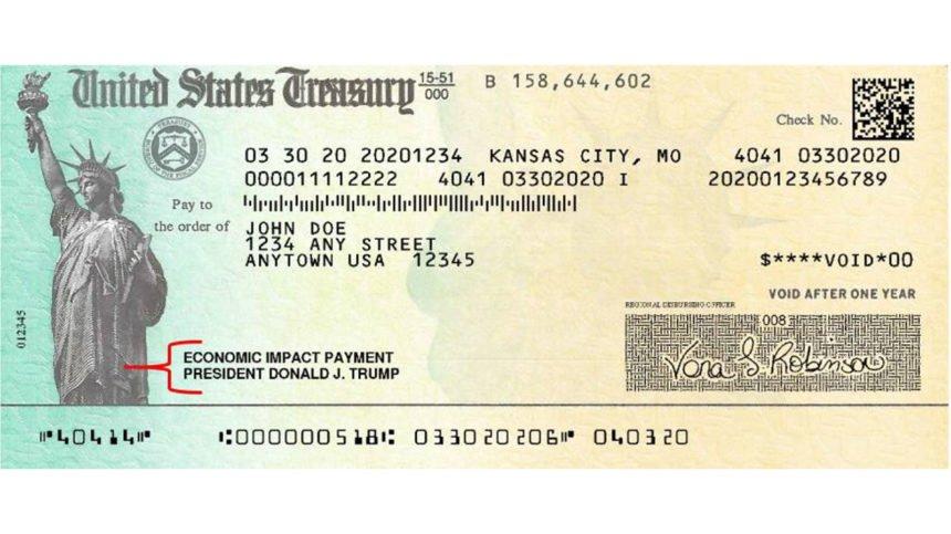 Trump signed stimulus check