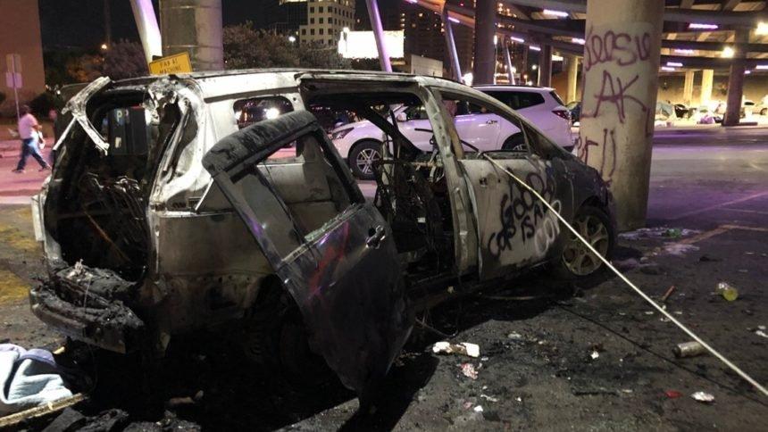 austin-car-burned