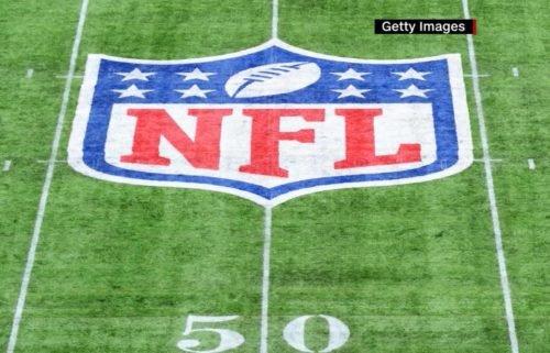 NFL logo football field