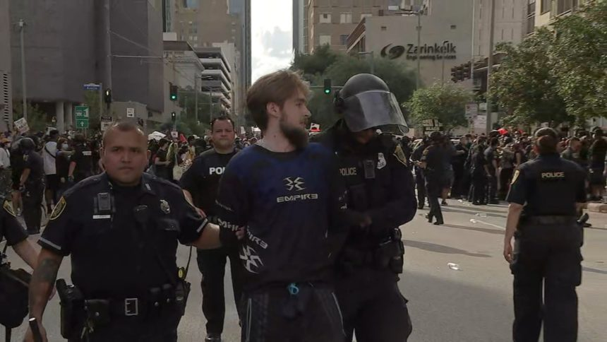 Houston protest arrest