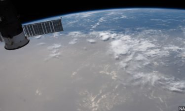Saharan dust cloud