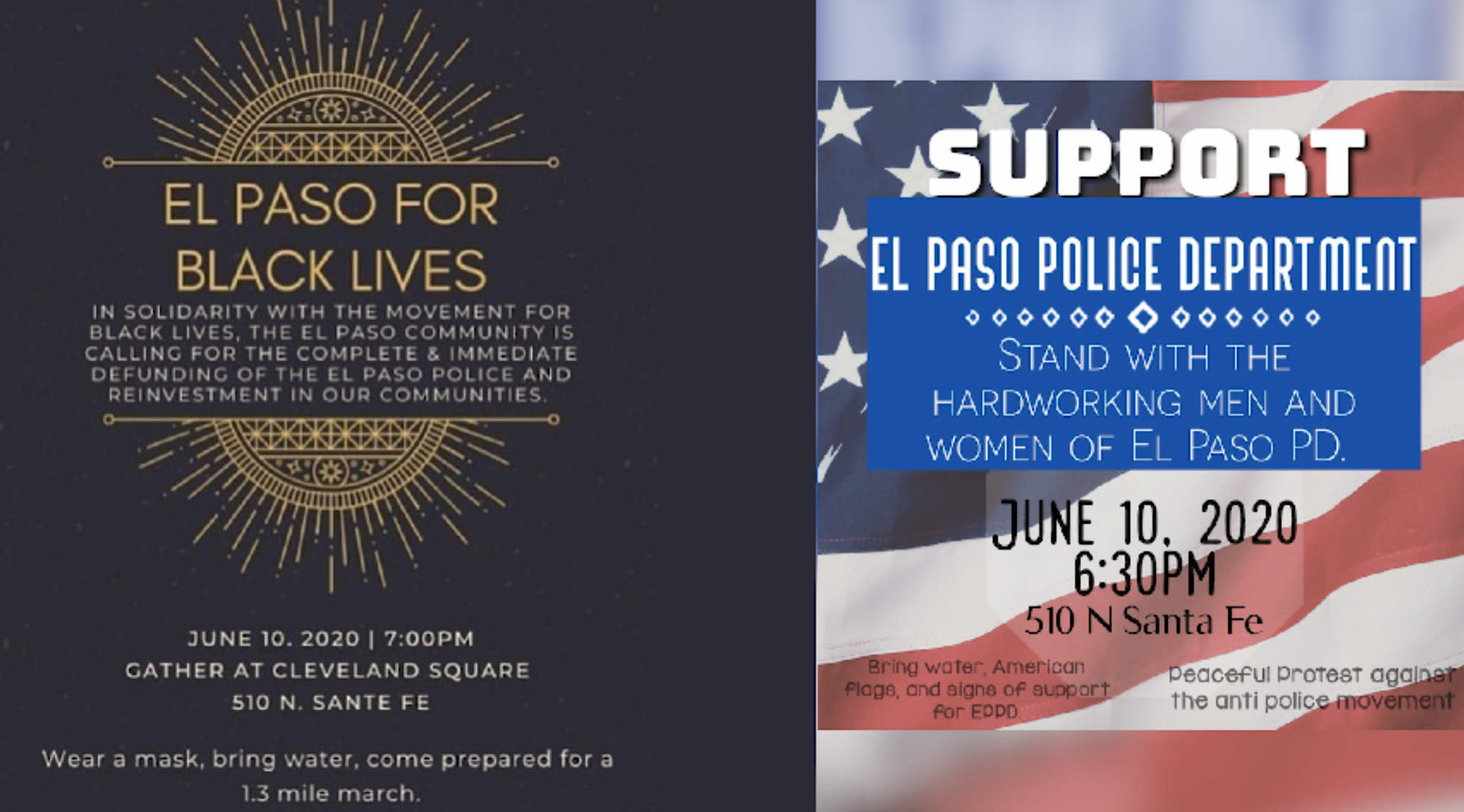 Dueling rallies planned in downtown El Paso