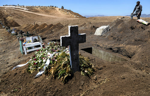 Mexico virus graves