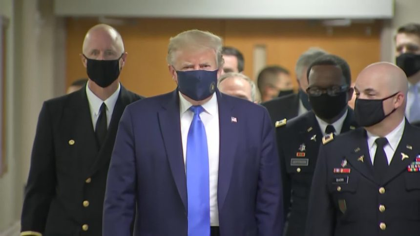 Trump face mask