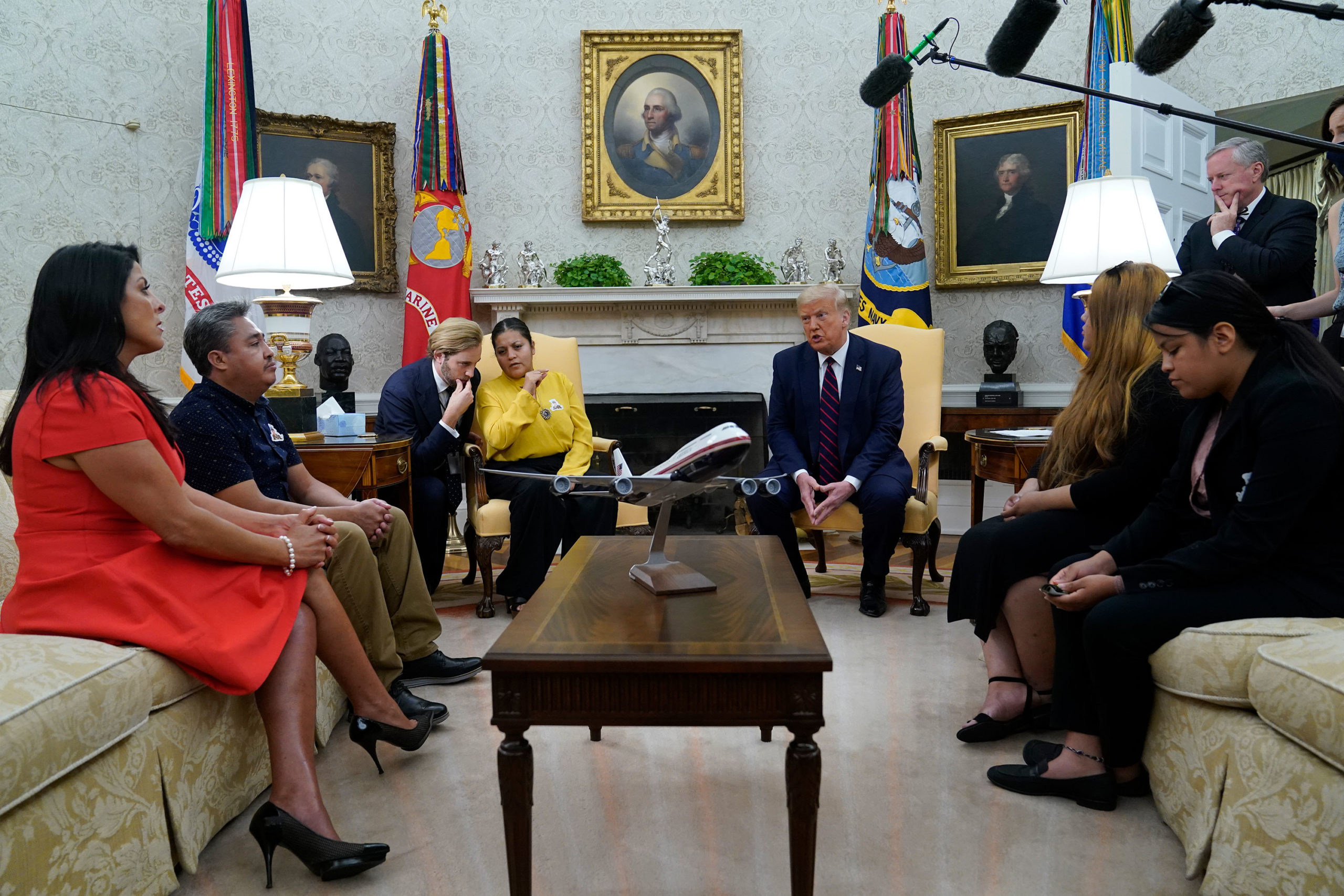 Trump meets with Guillen family