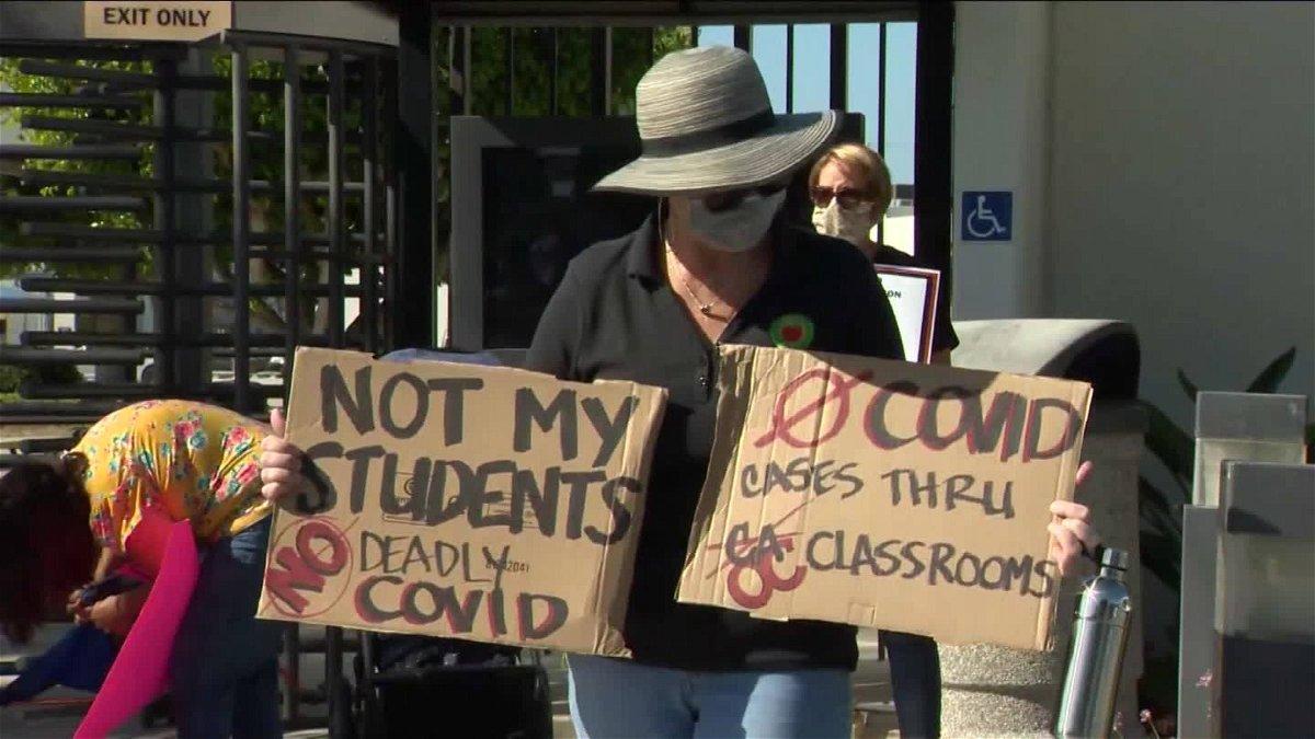 covid classrooms protest