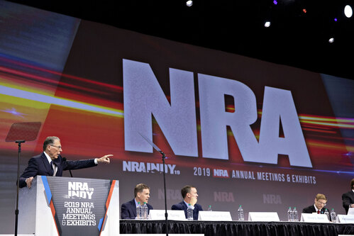 A National Rifle Association gathering is seen in this file photo.