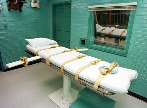 A death penalty chamber in a prison is seen in this file photo.