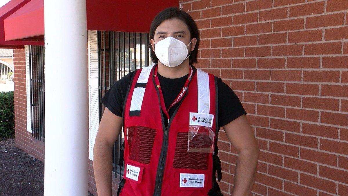 Red Cross volunteer Sebastian Acosta