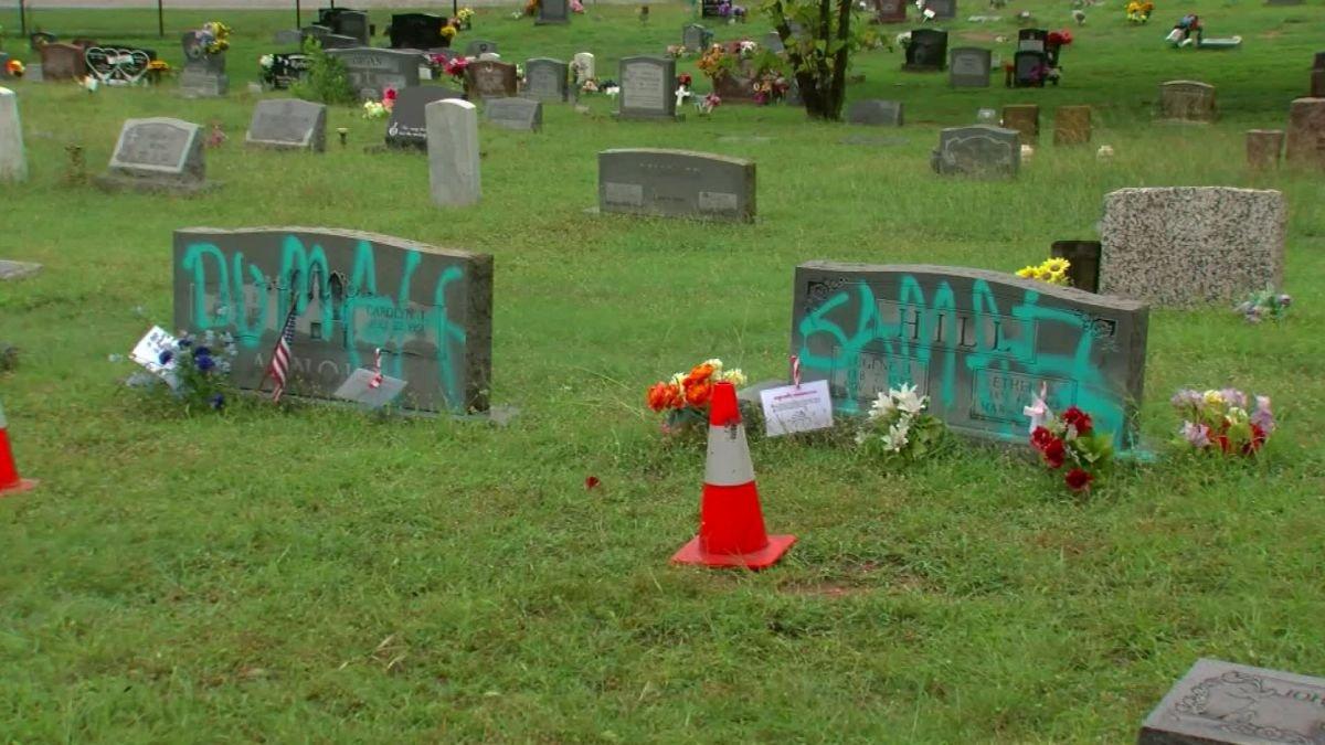 black-cemetery-vandalized