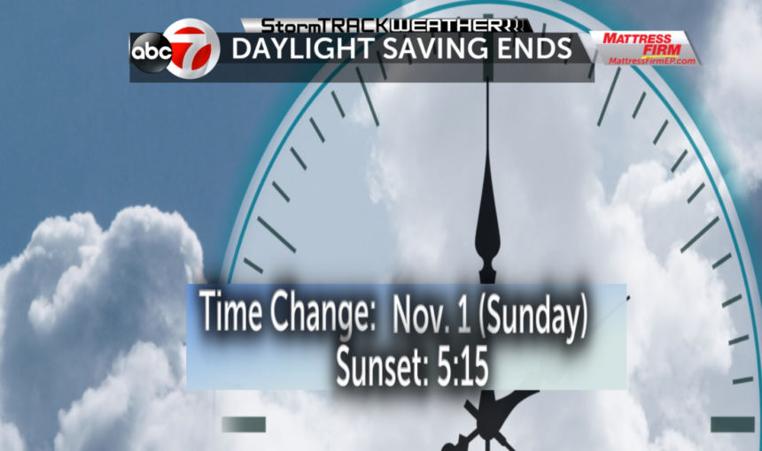daylight saving ends