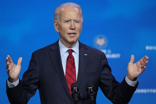 President-elect Joe Biden during a speech to the American people.