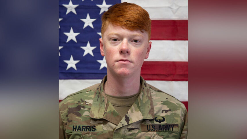 Missing soldier Corporal Harden Harris, age 20, was found deceased
