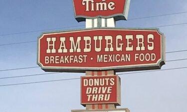 Burger Time sign