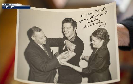 Elvis Presley gets Polio shot