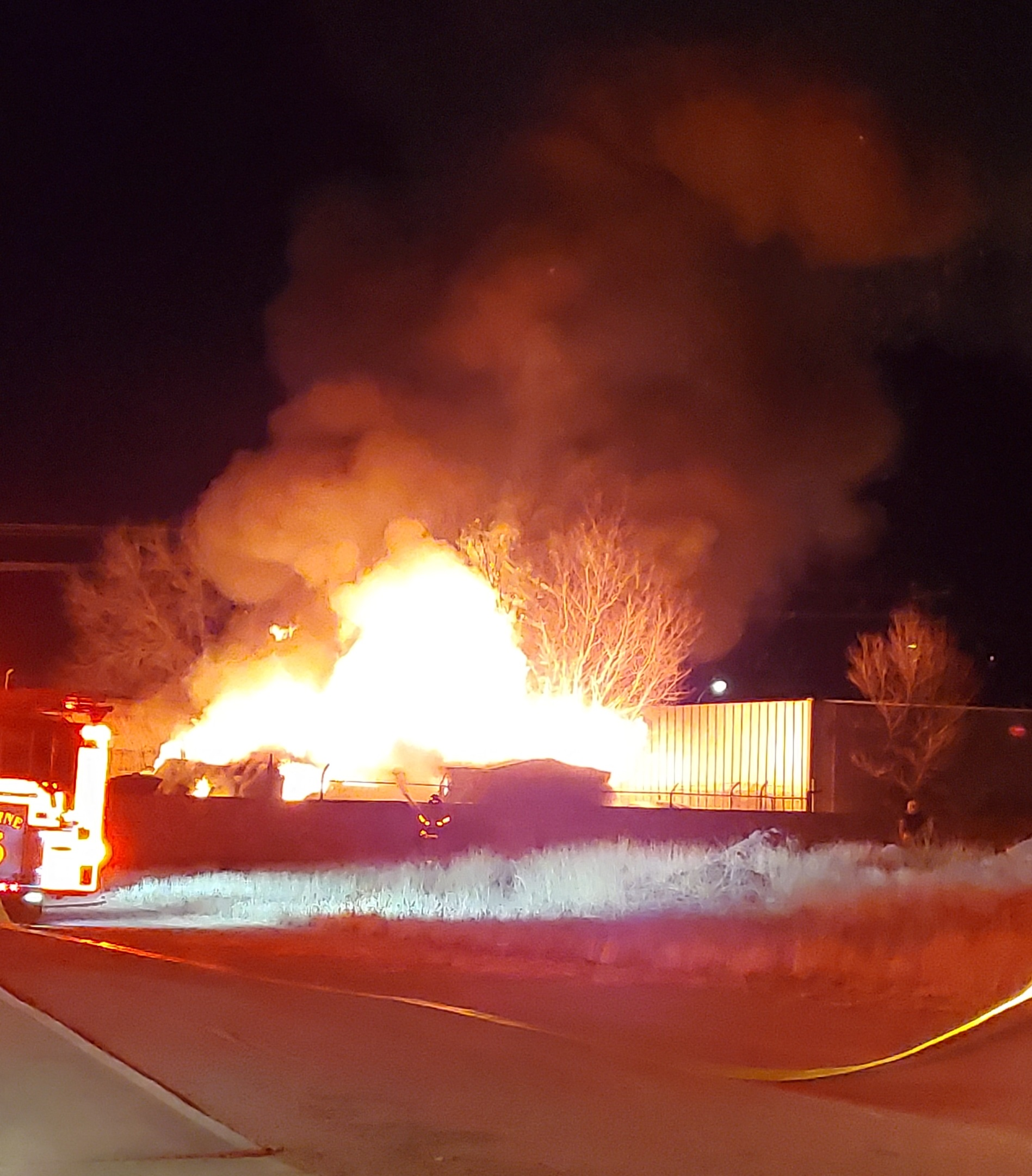 An early morning fire on west Picacho Avenue in Las Cruces.