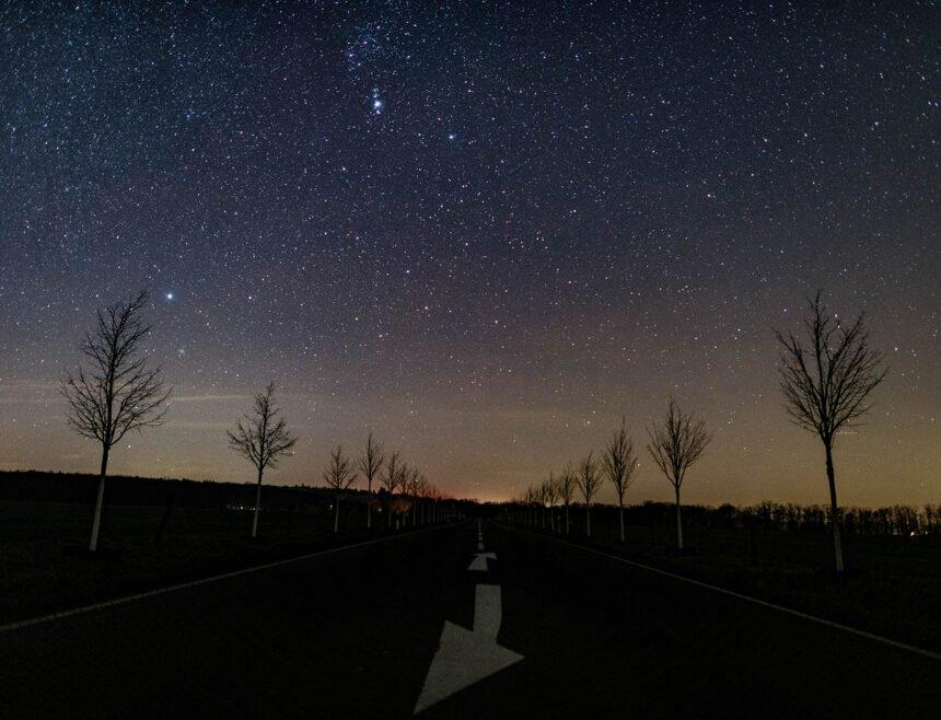 Starry sky over Brandenburg, Germany