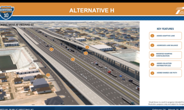 One of several options presented for the TXDOT ReImagine project