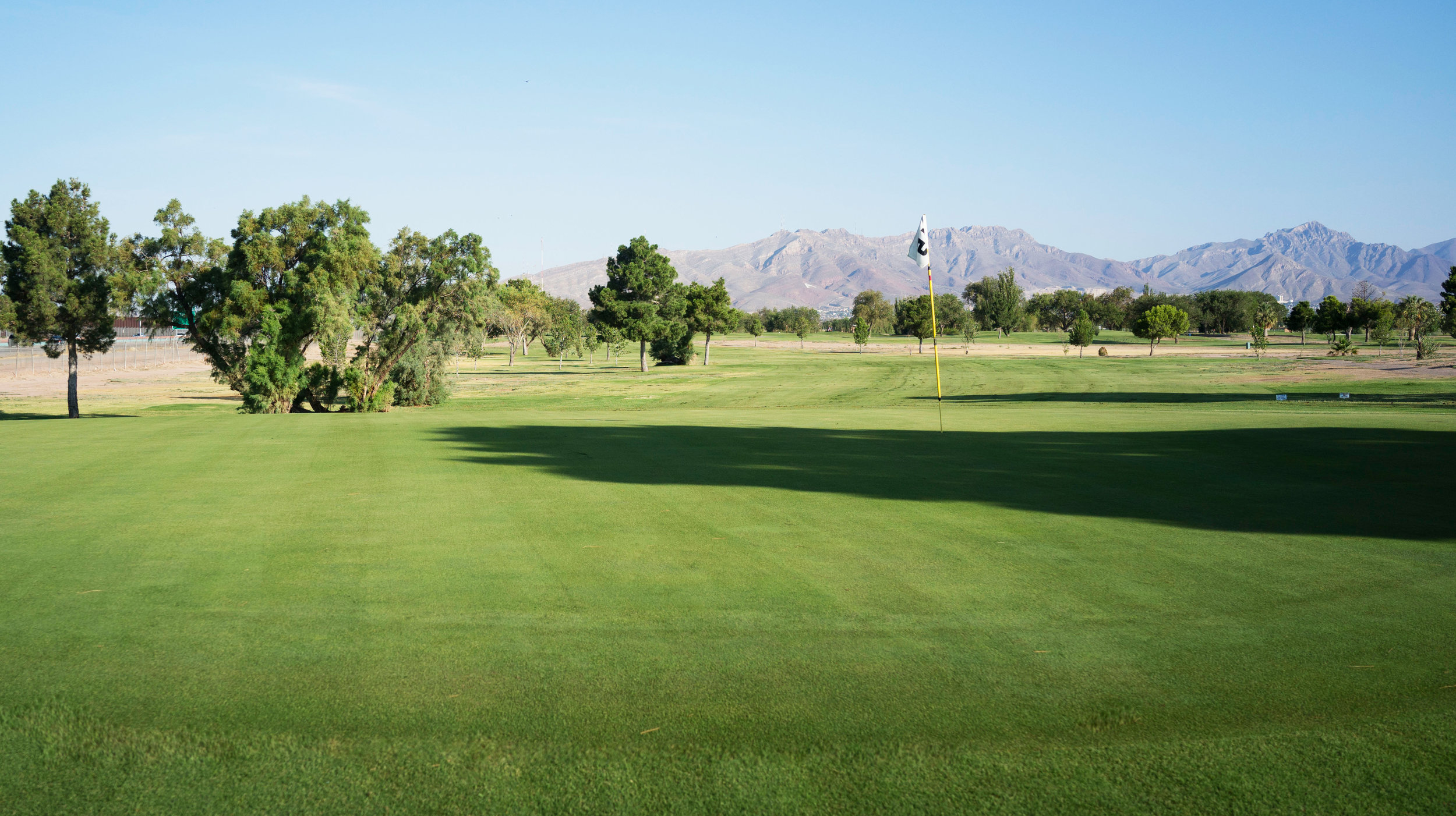 The 15th green at Ascarate Golf Course.