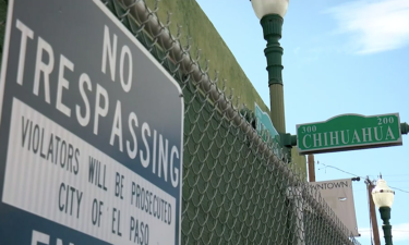 photo of no trespassing sign in downtown El Paso